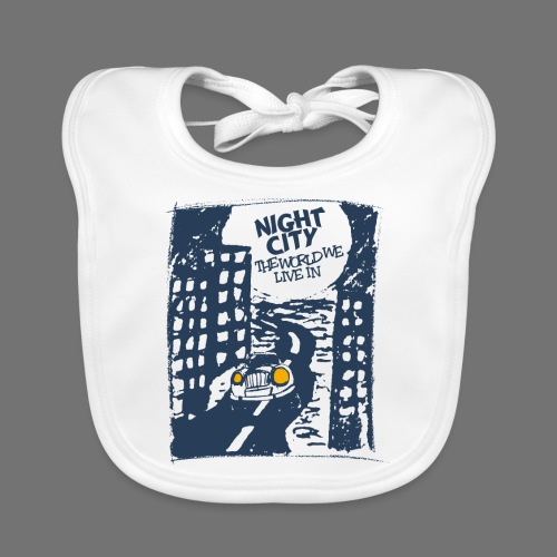 Night City - den verden vi lever i - Baby økologisk hagesmæk