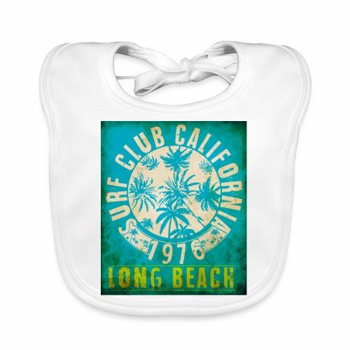 Long Beach Surf Club California 1976 Gift Idea - Baby Organic Bib