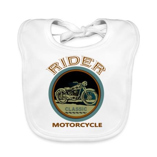 Rider Motorcycle - Babero de algodón orgánico para bebés