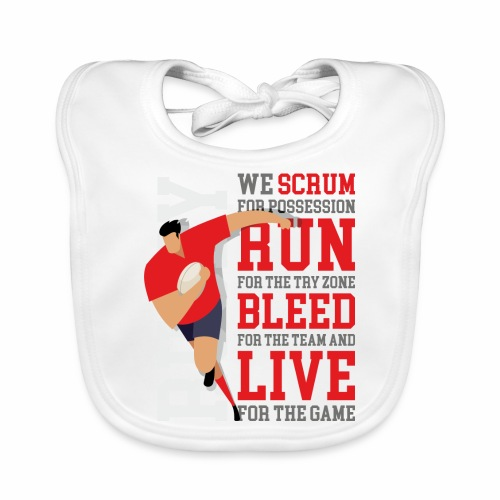 MarPlo Scrum Run Live Red - Bavaglino ecologico per neonato