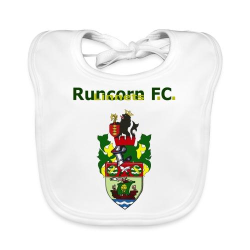 runcorn linnets logo and crest 120dpi - Baby Organic Bib