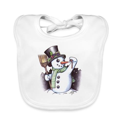 bonhomme de neige - Bavoir bio Bébé
