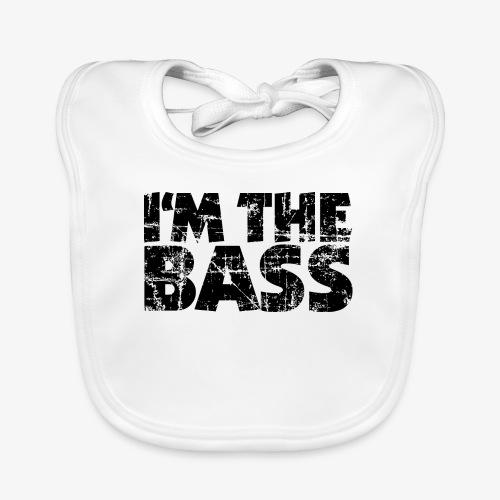 I'm the Bass Vintage Black - Baby Bio-Lätzchen