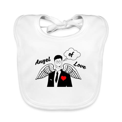 Angel of Love schwarz - Baby Bio-Lätzchen