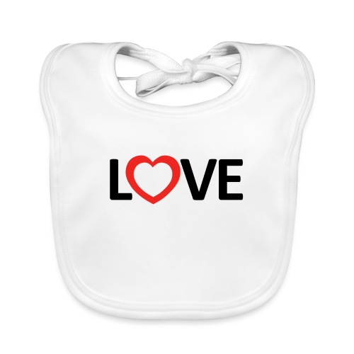 Love - Babero de algodón orgánico para bebés
