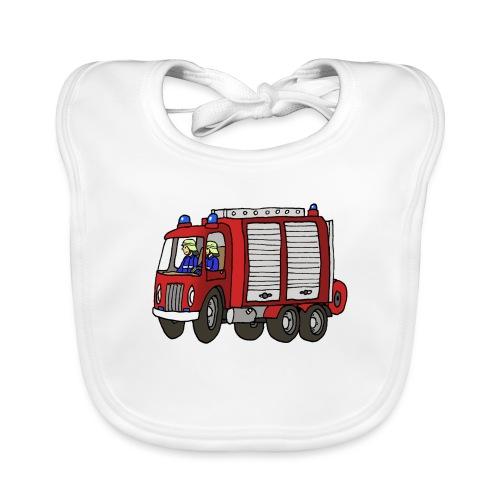 Rüstwagen Feuerwehr - Baby Bio-Lätzchen