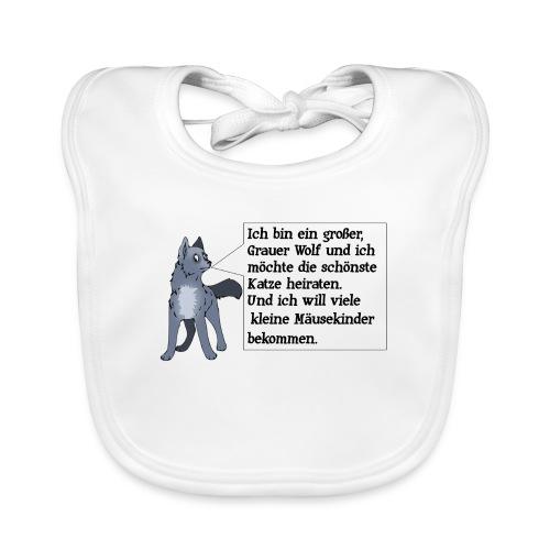 Ich bin ein grosser Grauer Wolf - Baby Bio-Lätzchen