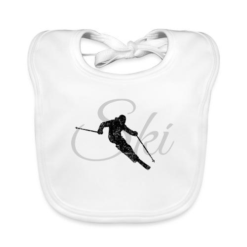 Ski Skifahren, Skifahrer - Baby Bio-Lätzchen
