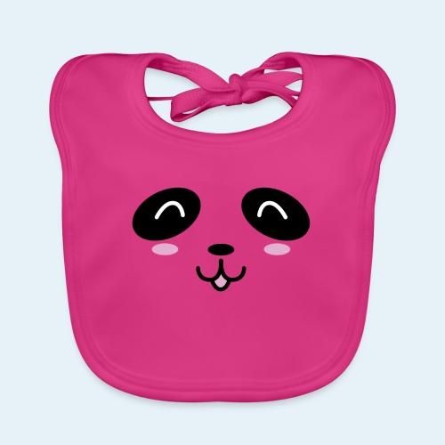 Cachorro panda (Cachorros) - Babero de algodón orgánico para bebés