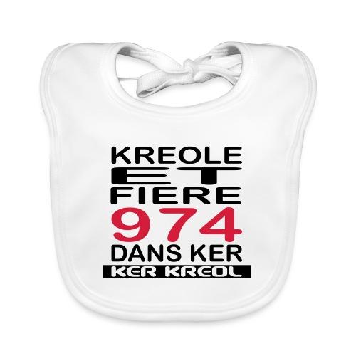 Kreole et Fiere - 974 ker kreol - Bavoir bio Bébé