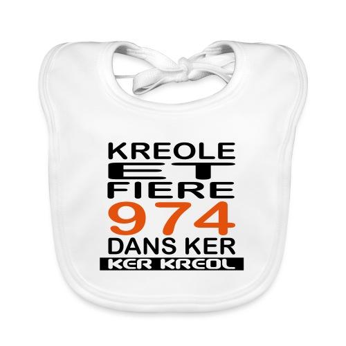 974 ker kreol - Kreole et Fiere - Bavoir bio Bébé