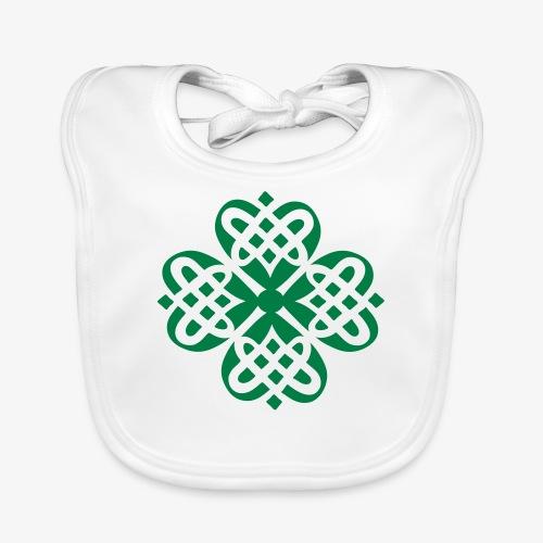 Shamrock Celtic knot decoration patjila - Organic Baby Bibs