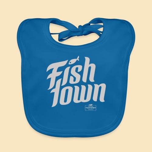 Fishtown Swoosh gray - Baby Bio-Lätzchen