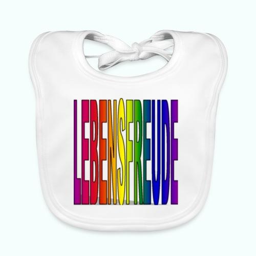 lebensfreude regenbogenfarben - Baby Bio-Lätzchen