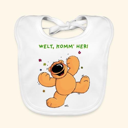 chris bears Welt lass Dich umarmen - Baby Bio-Lätzchen