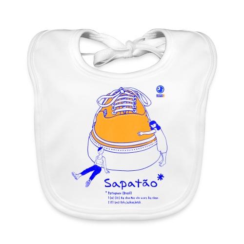 Sapatão - Babero de algodón orgánico para bebés