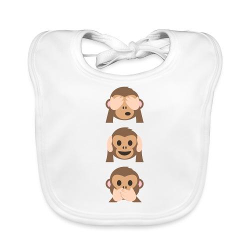 Edición limitada de Monkey Emoji - Babero ecológico bebé