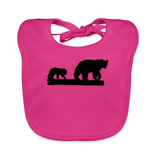Bären Bär Grizzly Wildnis Natur Raubtier - Baby Bio-Lätzchen