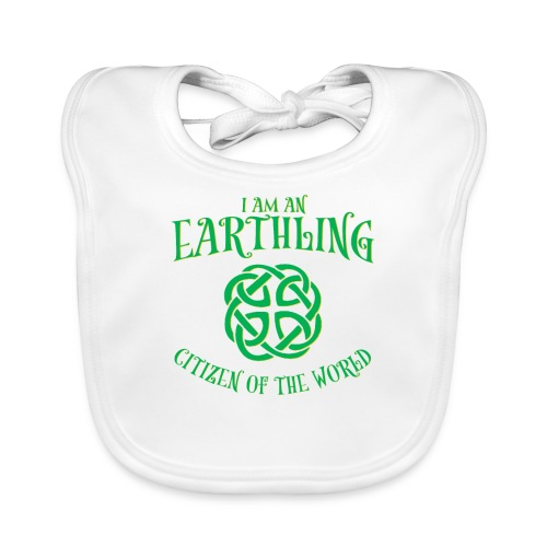 EARTHLING Green the earth - Ekologisk babyhaklapp