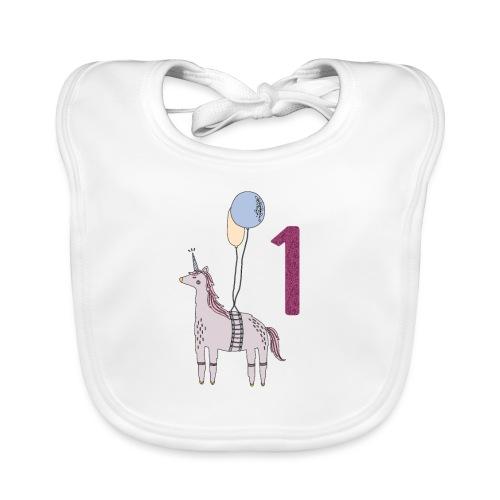 1 Jahr Einhorn / Geschenkidee zum 1. Geburtstag - Baby Bio-Lätzchen