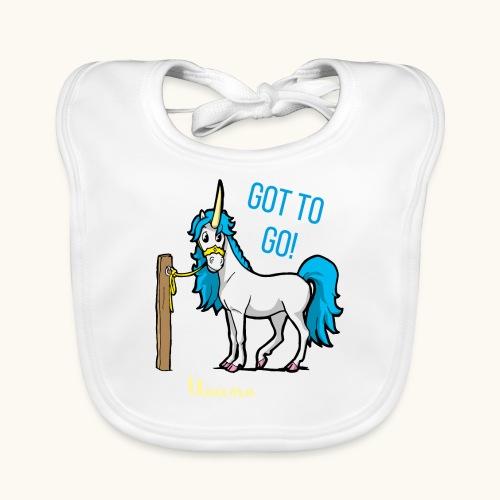 Dessin drôle de licorne disant bande dessinée cadeau - Bavoir bio Bébé