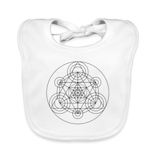 Sacred Geometry Alchemists Minion Black - Baby Organic Bib