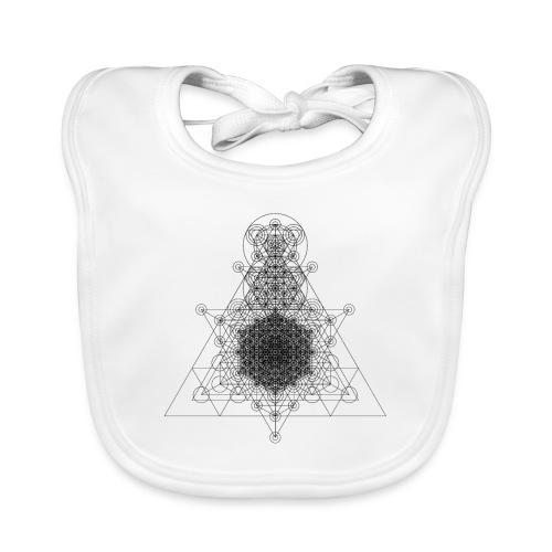 Sacred Geometry Higher Dimension Black - Baby Organic Bib