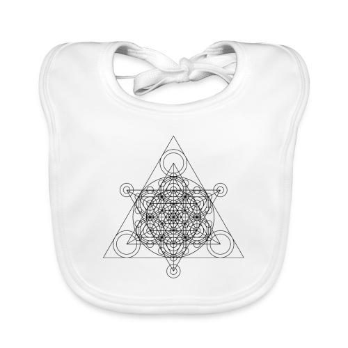 Sacred Geometry Tetrasseract Black - Baby Organic Bib