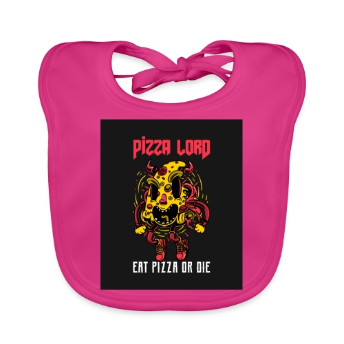 Pizza lord eat pizza or die - Baby Organic Bib