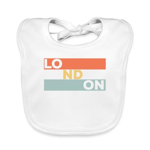 Vintage London Souvenir - Retro Streifen London - Baby Bio-Lätzchen