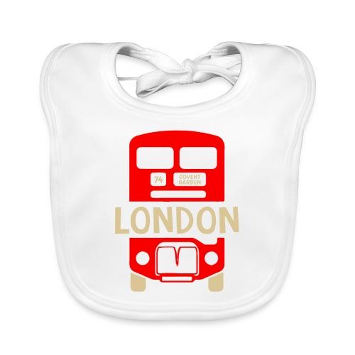 London Bus Roter Doppeldecker London Fan Souvenir - Baby Bio-Lätzchen