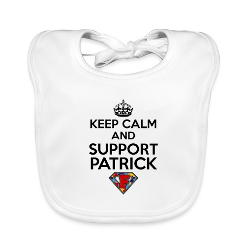 Keep Calm and Support Patrick - Baby Organic Bib