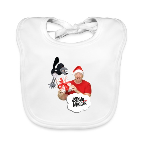 Merry Christmas with Steve and Maggie - Organic Baby Bibs