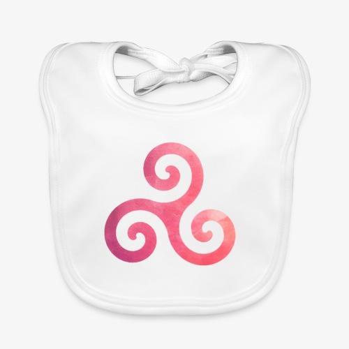 Trisquel Pink - Babero de algodón orgánico para bebés