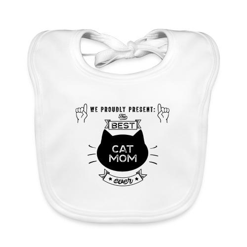 Best Cat Mom Ever Geschenkidee - Baby Bio-Lätzchen