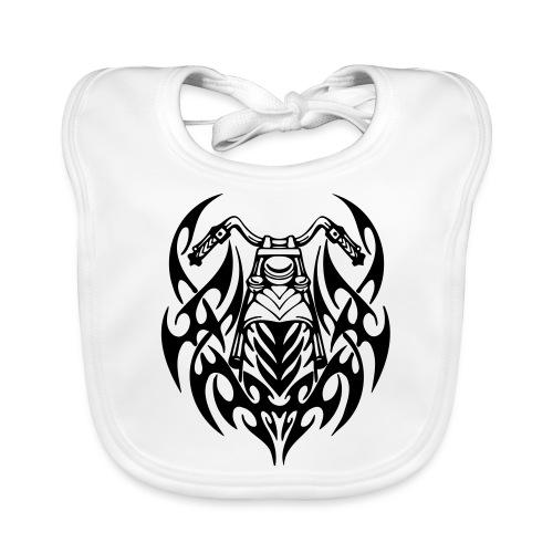 Moto Tribal - Babero de algodón orgánico para bebés