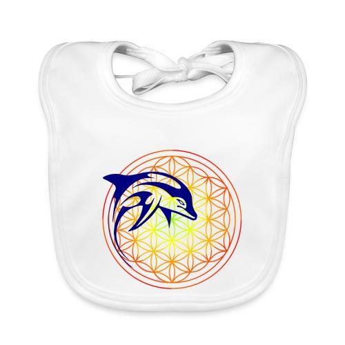 fleur de vie dauphin - Bavoir bio Bébé
