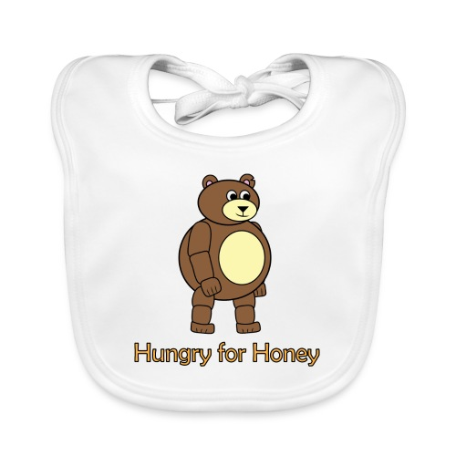 Bär - Hungry for Honey - Baby Bio-Lätzchen