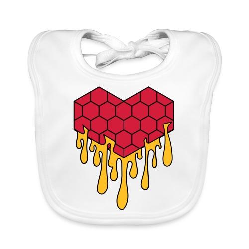 Honey heart cuore miele radeo - Bavaglino ecologico per neonato