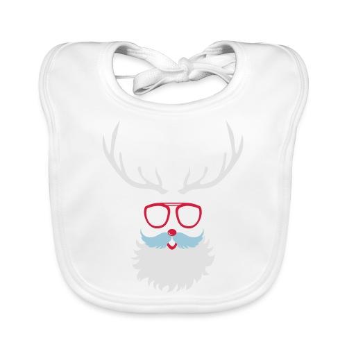 Santa Clauss Eye glasses - Bavoir bio Bébé