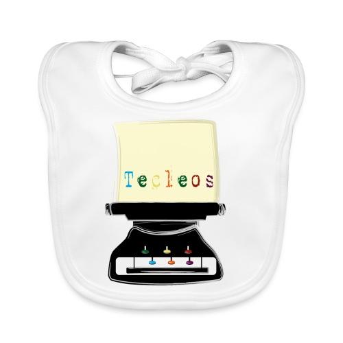 tecleos - Babero de algodón orgánico para bebés
