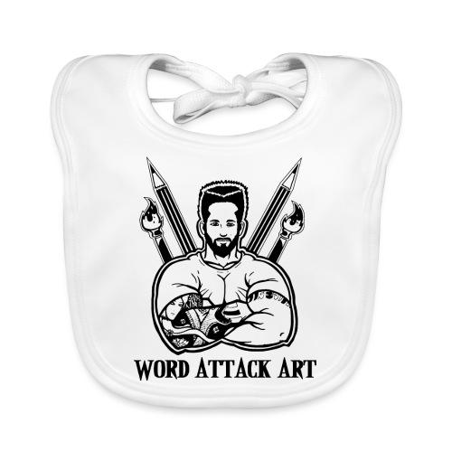 Word Attack Art - Baby Bio-Lätzchen