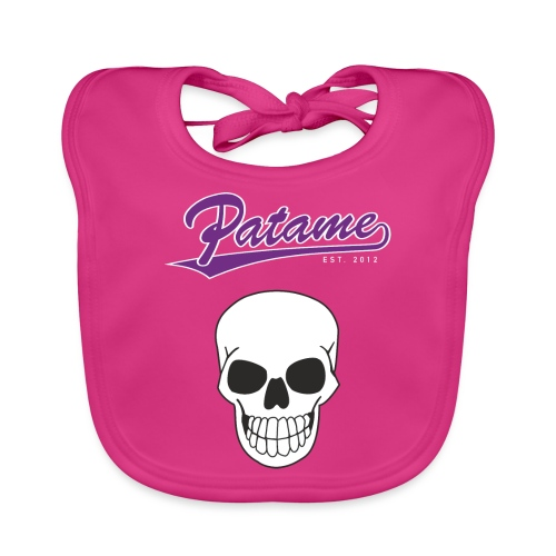 Patame Purple White Skull - Baby Bio-Lätzchen