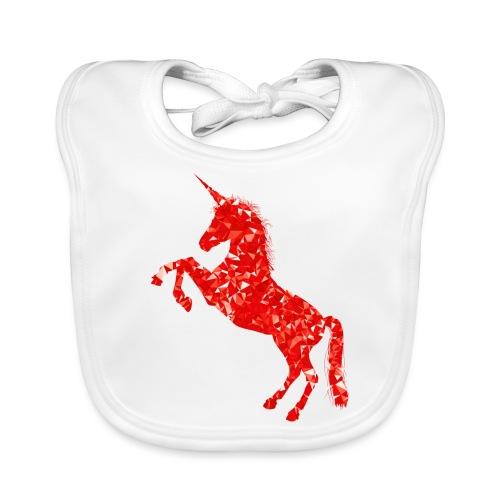 unicorn red - Ekologiczny śliniaczek