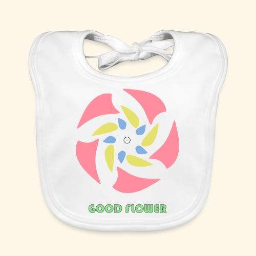 GOOD FLOWER - Babero de algodón orgánico para bebés