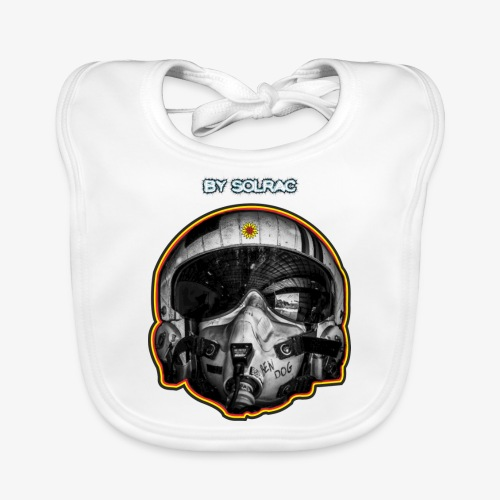 SOLRAC Pilot Air Force - Babero de algodón orgánico para bebés