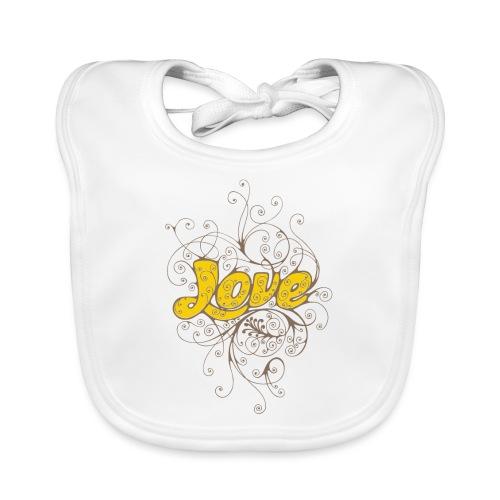 Scritta Love con decorazione - Bavaglino ecologico per neonato