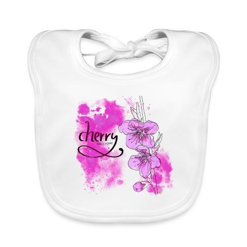 Kirschblüten Zweig - Baby Bio-Lätzchen