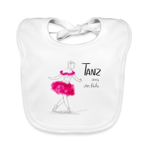 Ballerina mit rosa Tutu - Baby Bio-Lätzchen