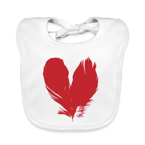 plumes de cœur - Bavoir bio Bébé